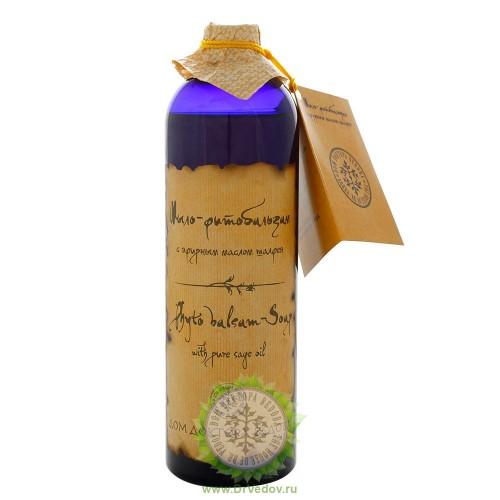 Мыло фитобальзам с эфирным маслом шалфея 500 мл