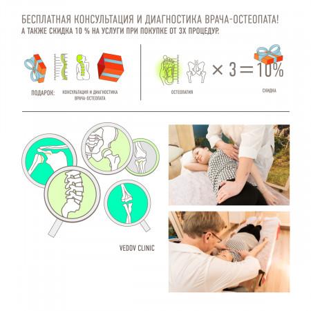 Бесплатная консультация и диагностика остеопата
