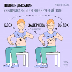 Развитие легких упражнением