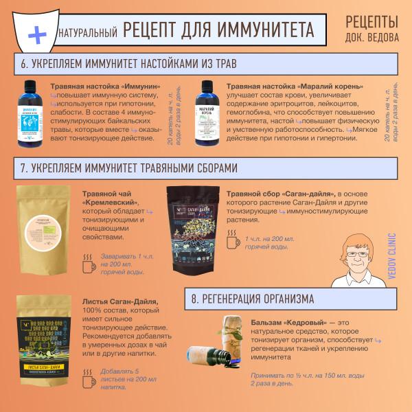 Натуральный комплекс поднятия иммунитета от доктора Ведова