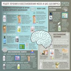 Рецепт лечения и восстановления мозга и ЦНС при вирусном заболевании (слайд)